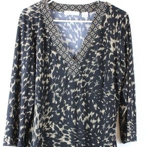 Women's Long Sleeve Blouse, Liz Claiborne, LARGE